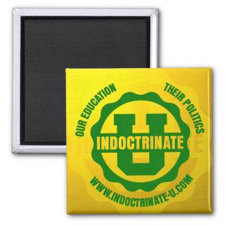 """Indoctrinate U"" Radiation Logo Square Magnet"