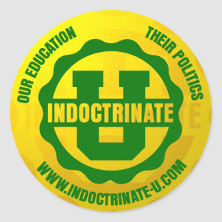 """Indoctrinate U"" Round Sticker Pack"