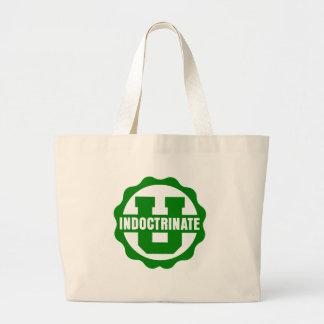 """Indoctrinate U"" Simple Logo Canvas Boat Bag"