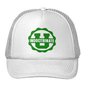 """Indoctrinate U"" White Trucker Hat"