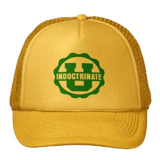 """Indoctrinate U"" Yellow Trucker Hat"