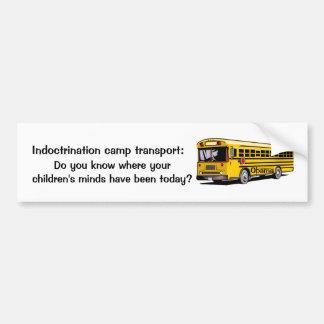 Indoctrination Camp transport Bumper Sticker