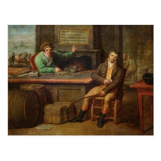 Indolencia, 1818 postal