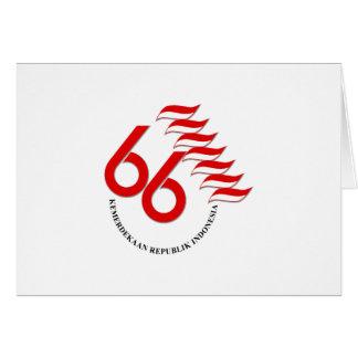 Indonesia 66 Tahun Card