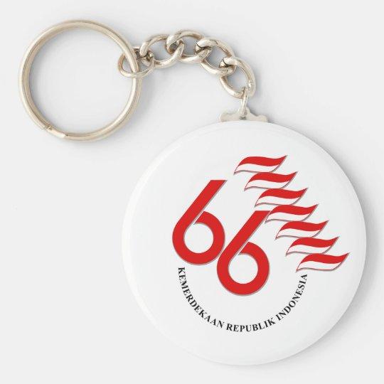 Indonesia 66 Tahun Keychain