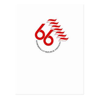 Indonesia 66 Tahun Postcard