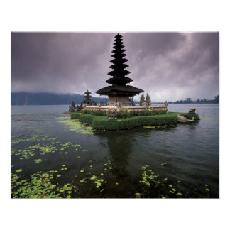 Indonesia, Bali, templo de Ulun Danu Póster