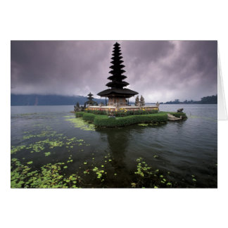 Indonesia, Bali, templo de Ulun Danu Tarjeta De Felicitación