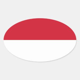Indonesia - bandera indonesia pegatina ovalada