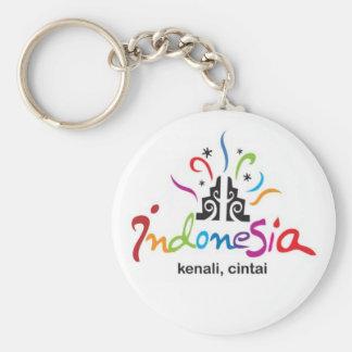 Indonesia Basic Round Button Keychain