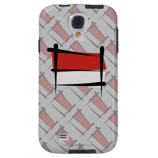 Indonesia Brush Flag Galaxy S4 Case