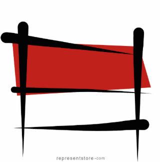 Indonesia Brush Flag Cutout