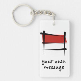 Indonesia Brush Flag Keychain
