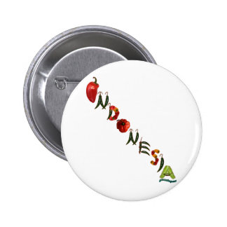 Indonesia Chili Peppers Pinback Button