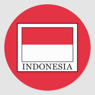 Indonesia Classic Round Sticker