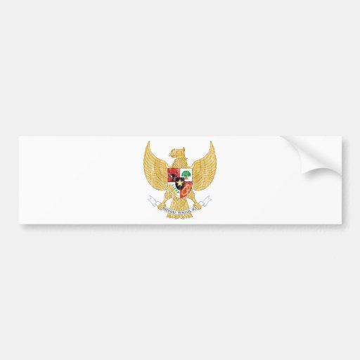 Indonesia Coat Of Arms Car Bumper Sticker