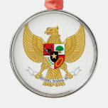 Indonesia Coat Of Arms Christmas Ornaments