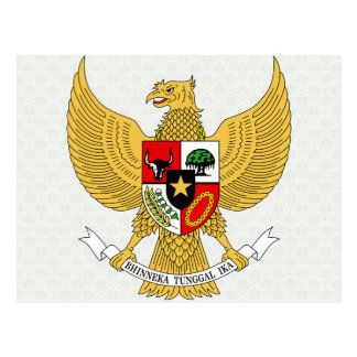 Indonesia Coat of Arms detail Post Cards