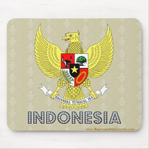 Indonesia Coat of Arms Mouse Pad