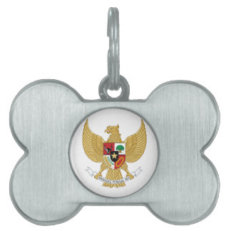 Indonesia Coat of Arms Pet ID Tag