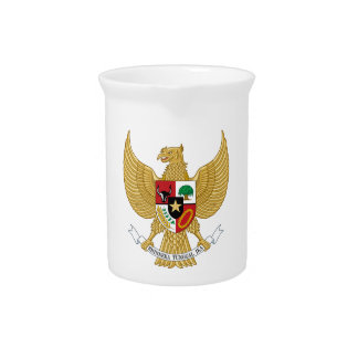 Indonesia Coat of Arms Pitchers