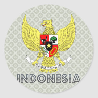 Indonesia Coat of Arms Classic Round Sticker