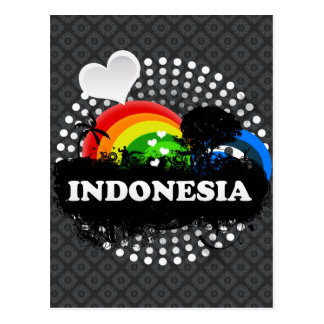 Indonesia con sabor a fruta linda tarjeta postal