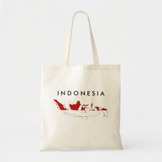 Indonesia country flag map shape silhouette tote bag