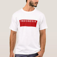 indonesia country flag text name T-Shirt