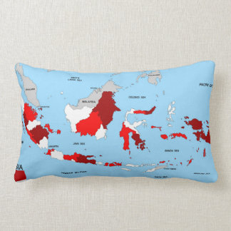 indonesia country political map flag throw pillow