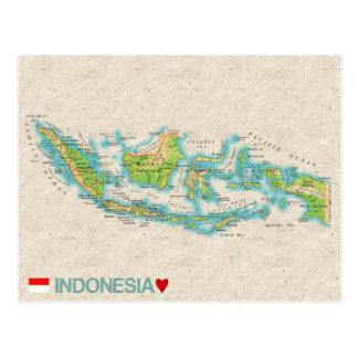 ♥ Indonesia de las POSTALES del MAPA