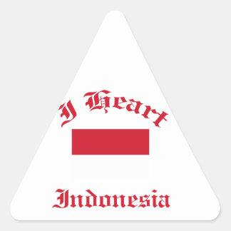 Indonesia design triangle sticker