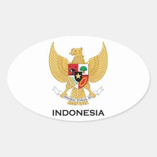 INDONESIA - emblem/flag/coat of arms/symbol Oval Sticker
