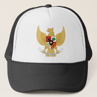 indonesia emblem trucker hat