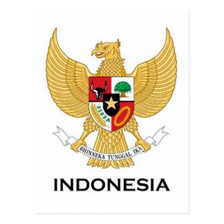 INDONESIA - emblema/bandera/escudo de Tarjeta Postal