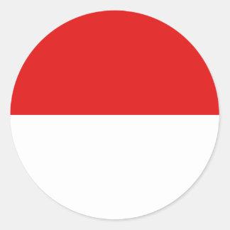 Indonesia Fisheye Flag Sticker