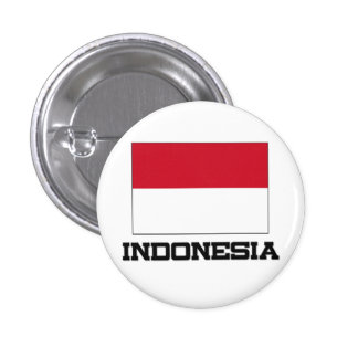 Indonesia Flag 1 Inch Round Button