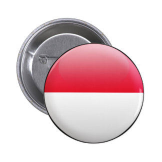 Indonesia Flag Pinback Buttons