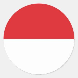 Indonesia Flag Classic Round Sticker
