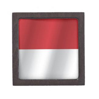 Indonesia flag gift box