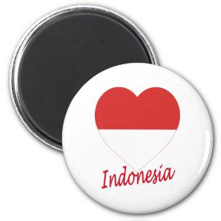 Indonesia Flag Heart Fridge Magnets