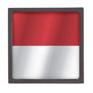 Indonesia flag jewelry box