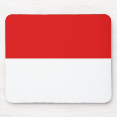 Indonesia Flag Mousepad by FlagAndMap