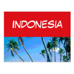 Indonesia flag post card