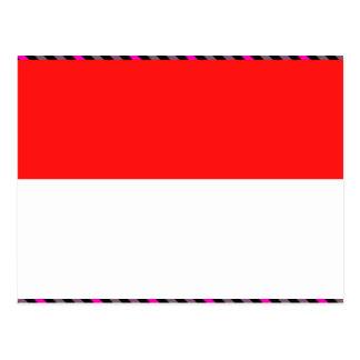 Indonesia Flag Postcard