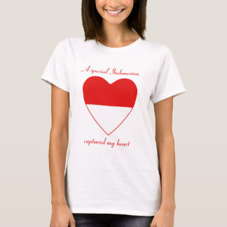 Indonesia Flag Sweetheart T-Shirt