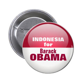INDONESIA for OBAMA Pinback Buttons