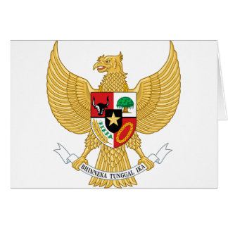 Indonesia, ID, Coat of arms Card