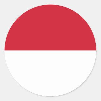Indonesia ID, Jakarta, Flag Classic Round Sticker