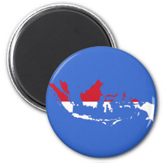 Indonesia ID, Jakarta, Flag Map Magnet